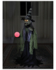 Hexe mit Hexenkugel Halloween Animatronic