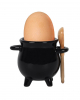 Witch Cauldron With Spoon As Egg Cup