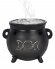 Witch Cauldron With Triple Moon Incense Cone Holder