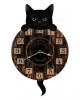 Kätzchen Wanduhr mit Pendel