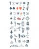 Finger Tattoos zum Aufkleben - Symbole