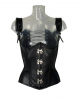 Imitation Leather Corset With Shoulder Strap