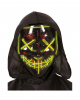 Glowing LED Guy Fawkes Mask Black