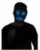 Glowing LED Mask Blue - White