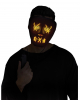 Glowing LED Mask Yellow - Black