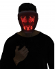 Glowing LED Mask Red - White