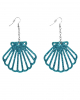 Shell Earrings Turquoise