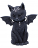 Occult Cat Figure With Bat Wings