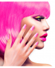Airbrush Fingernägel Neon Pink