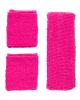 Schweißband Set Pink als Verkleidungs Accessoires