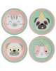 Cute Animals Paper Plate 23 Cm 8 Pcs.