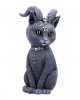Occult Cat Figure With Goat Horns 26,5cm