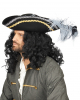 Pirate hat with gold & silver border