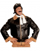 Antike Flieger Jacke mit Mütze & Schal