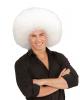 XL Afro Perücke Weiß