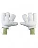 Cartoon giant gloves white