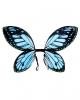 Schmetterlingsflügel Schwarz/Blau für Kinder