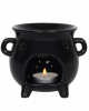 Black Witch Cauldron Tea Light Holder Scented Lamp