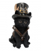 Black Cat With Steampunk Top Hat 18,5cm