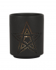 Black Pentagram Tealight Holder