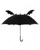 Schwarzer Fledermaus Regenschirm mit Flügeln