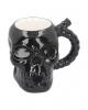 Schwarzer Totenschädel Becher aus Keramik