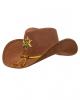 Sheriff Kostümhut braun mit Stern & Hutband