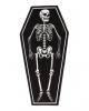 Sarg mit Skelett Teppich