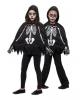 Kinder Poncho Skelett mit Handschuhe