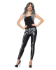 Schwarz-graue Skelett Leggings