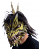 Spike Dragon Mask With Fur & Movable Jaw