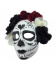 Sugar Skull Mask With Flowers