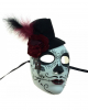 Sugar Skull Mask With Mini Top Hat