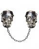 Skull Brooches With Chain As Cape Fastener