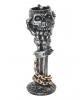 Totenschädel Kerzenleuchter mit Knochenhand