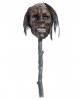 Voodoo Wand With Shrunken Head & LED Eyes