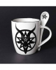 White Baphomet Cup With Spoon