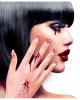 Fingernägel weiß mit Blutspritzer 12 St.
