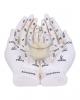 Weiße Chiromantie-Hände Teelichthalter