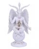 Weiße Baphomet Figur mit Flügel 25cm