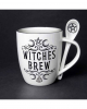 White Witches Brew Cup With Spoon