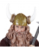 Gold Coloured Viking Helmet With Fur Trimming