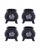 Witch's Brew Kettle Shot Glass 4 Pieces