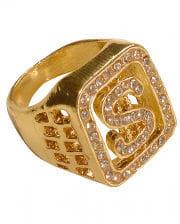 Prollige Goldkette 100cm NEU Zubehör Accessoire Karneval Fasching