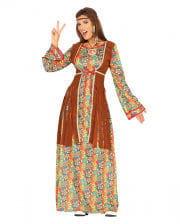 Damen Hippikleid Allegra für die Hippie Mottoparty /& Karneval