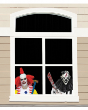 HALLOWEEN Creepy Carnival Türvorhang Grusel Clown Deko