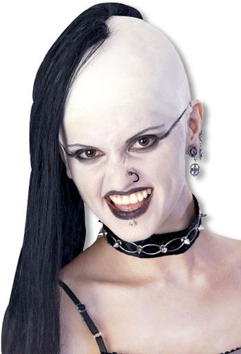 Black vampire mohawk wig