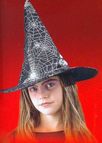 Child Witch Hat with Silver Spiderweb