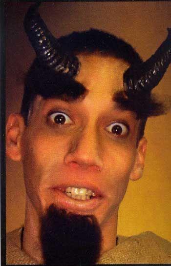 Black devil horns including mastic u. Blood