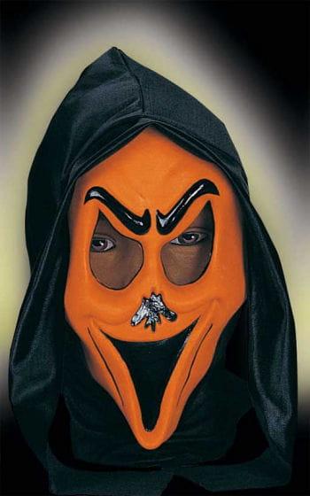 Lustige Geistermaske Orange Smily